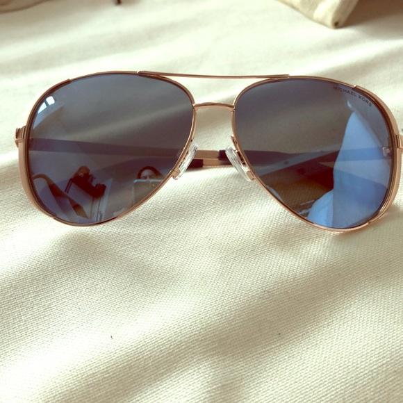 0f1dd5c87c Michael Kors mirrored aviator sunglasses NEW